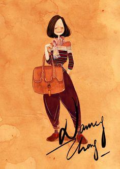 Wine Red.   Nancy Zhang