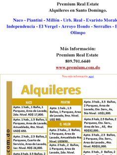 Premium Real Estate Alquileres en Santo Domingo  Premium Real Estate  809.701.6440