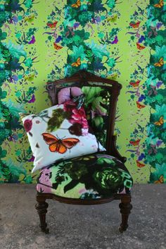 Timorous Beasties Wallcoverings - Butterfly Blurr