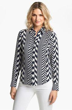 MICHAEL Michael Kors 'League Stripe' Shirt available at #Nordstrom