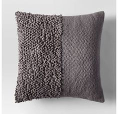 If your space is starting to look a little too pattern-happy, throw in a neutral pillow with cool texture l. Diy Pillows, Couch Pillows, Decorative Pillows, Throw Pillows, Cushions, Textiles, Neutral Pillows, Punch Needle Patterns, Fur Pillow