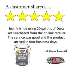 We love it when a customer finds success with Mad Dog Primer!    And - we've seen the pics of his project - it looks AWESOME!  Are you ready to try Mad Dog Products?   Visit www.MadDogPrimer.com