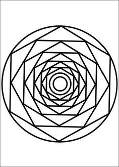 Målarbilder Mandalas 40