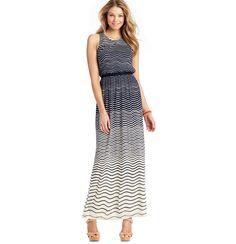 Loft - Pretty Waves Tank Maxi Dress