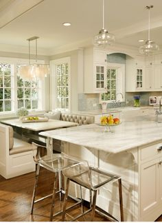 This is a #traditional #kitchen with a vibrant, modern flare. www.remodelworks.com