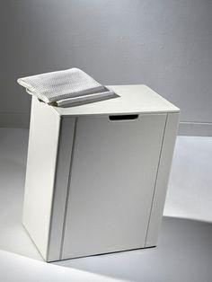 Loft & Bath® Blanc > Accessoires Cuir Blanc > Panier à linge en cuir 60 litres