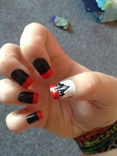 Sleeping With Sirens- With Ears To See And Eyes To Hear I wanna get my nails done like this Cute Nails, My Nails, Band Nails, Hangnail, Sleeping With Sirens, Simple Nail Designs, Hard Candy, Health And Beauty Tips, Simple Nails
