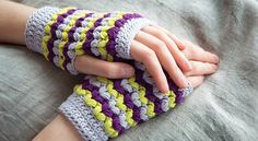 I love these mittens; just one may need on cold winter mornings! They are bright, they are beautiful and they work up quickly. The Neon Love Mitts by Meghan Fernandez, is a fun mitts pattern that uses double and treble crochet. A knitter may say that this crochet stitch pattern almost looks like jumbo sized …