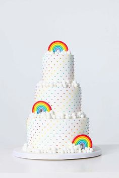 Loving this Rainbow cake!!!! perfect for the Holy Communion
