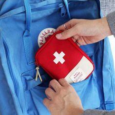 Travel Portable Storage Bag First Aid Emergency Medicine Bag Outdoor Pill Survival Organizer Emergency Kits Package Emergency Medical Kit, Emergency Bag, Emergency Medicine, First Aid Kit Travel, Survival First Aid Kit, Survival List, Safety And First Aid, Bag In Bag, Mini
