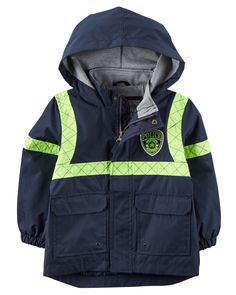 Toddler Boy Jersey-Lined Policeman Raincoat | Carters.com