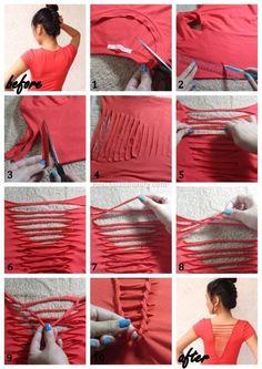 DIY T Shirt-Refashion Ideas -