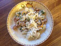 Gnocchi mit frischen Reherl (Pfifferlingen)
