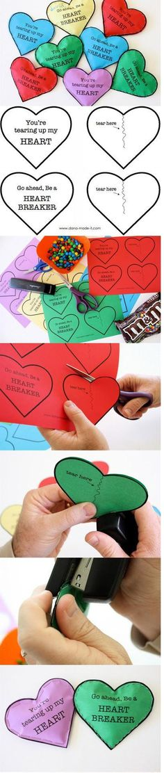 Candy pouches for Valentine's Day