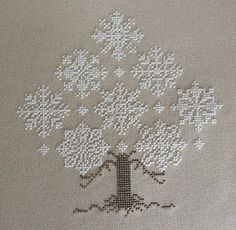 My Cross Stitch Corner: Winter Forest by The Cricket Collection Great snowflakes Cross Stitching, Cross Stitch Embroidery, Embroidery Patterns, Hand Embroidery, Cross Stitch Designs, Cross Stitch Patterns, Bordado Tipo Chicken Scratch, Cross Stitch Tree, Christmas Embroidery