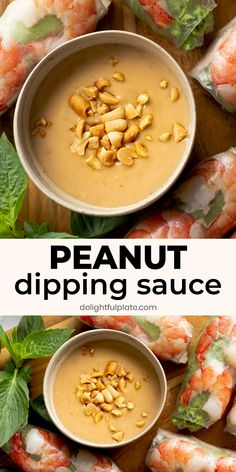 Spring Roll Peanut Sauce, Spring Roll Dipping Sauce, Easy Peanut Sauce, Peanut Dipping Sauces, Easy Delicious Recipes, Tasty, Healthy Recipes, Healthy Dishes, Food Dishes