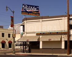 Philippe's restaurant, Los Angeles, established 1908.