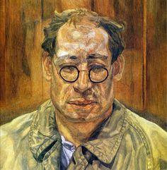 Lucien Freud, A Man in a Mackintosh (1958) on ArtStack #lucien-freud #art