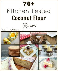 If you're looking for coconut flour recipes you've come to the right place! Check out these Kitchen Tested Coconut Flour recipes! I haven't checked this out carefully -- at least part of them are NOT paleo. Wheat Free Recipes, Paleo Recipes, Low Carb Recipes, Whole Food Recipes, Cooking Recipes, Paleo Baking, Gluten Free Baking, Coconut Flour Recipes, Coconut Oil