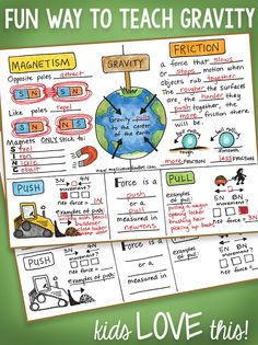Fun way to teach all about Gravity!  Great interactive notebook foldable