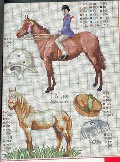 Sticken Pferde - cross stitch horses - free pattern Gallery.ru / Фото #34 - разное - Mosca