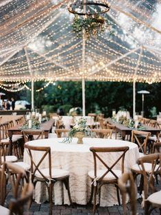 Wedding Film, Dream Wedding, Glamorous Wedding, Outdoor Wedding Reception, Backyard Tent Wedding, Tent Wedding Receptions, Diy Wedding Tent, Wedding Tent Lighting, White Tent Wedding