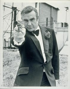 James Bond with his PPK (Diamonds Are Forever)