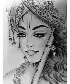 How to draw Bal Krishna pencil drawing step by step - Learn Drawing Lord Krishna Sketch, Krishna Drawing, Krishna Painting, Krishna Art, Radha Krishna Sketch, Krishna Tattoo, Krishna Images, Ganesha Art, Radhe Krishna