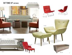 Trend: Buttoned Up (Cont'd) #hpmkt  putting the Kendall @Thibaut Wallpaper sofa in my living room!