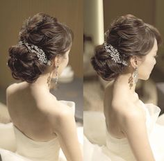 Wedding Hairstyles: A 7 Step Plan For Perfect Hair Elegant Hairstyles, Bride Hairstyles, Pretty Hairstyles, Short Hairstyles, Hairstyles Videos, Wedding Party Hair, Wedding Makeup, Wedding Beauty, Bridal Hairdo