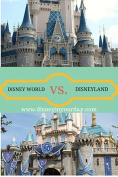 Disney World vs. Disneyland - is one better than the other? Which attractions do they have that are the same and how do these attractions differ?