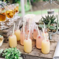 """The prettiest after-ceremony drinks  A wedding full of lovely details by Sarah-Jane Ethan Photography  is on the blog this afternoon """