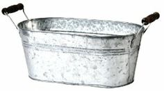 Wald Imports 13-1/2-Inch Galvanized Metal Planter Cover by Wald Imports, Ltd.. $12.99. Ear handles with wooden dowels. Fits 2 standard 6-Inch plants. Galvanized metal pot cover. Liner Included. Wald Imports, Ltd. Item 7103/D6 is a 13-1/2-Inch Galvanized Metal Planter with Wooden Dowel Handles. Liner Included. 13-1/2-Inch by 7-Inch by 5-3/4-Inch H.