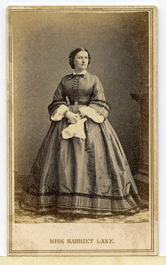 Civil War CDV Photograph Harriet Lane First Lady Anthony Mathew Brady | eBay