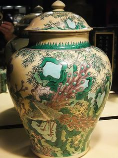 Peacock enameled Kangxi Period Jar Qing Dynasty China 1662-1722 CE… Chinese Art♦️More Pins Like This At FOSTERGINGER @ Pinterest ♦️