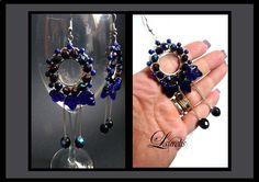 Blue round dangle earrings by Laurelisbijoux on Etsy, $19.99