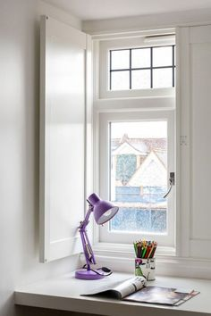 Solid Panels Shutters by Plantation Shutters Ltd Wooden Shutters Indoor, Interior Window Shutters, Wooden Windows, Windows And Doors, Shutter Images, Window Styles, Window Panels, Home Decor Inspiration, Window Treatments