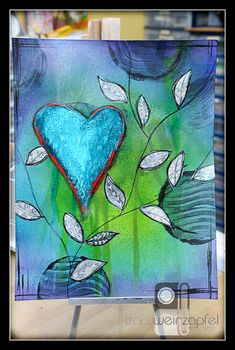 Seriously I am in love with my round Gelli Plates®! -- Tracy Weinzapfel Studios
