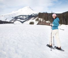 3 Ways to Burn 1,000 Calories Outdoors. #SelfMagazine I might like snow shoeing better than skiing