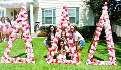 These flower covered letters are adorable for summer!