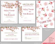 Sakura wedding menu template white blossom in white diy spring image result for cherry blossom wedding invitations stopboris Choice Image
