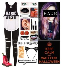 """""""I'm ready for Halloween but, is Halloween ready for me?"""" by dapizzaluver ❤ liked on Polyvore featuring New Look, Dr. Martens and Casetify"""