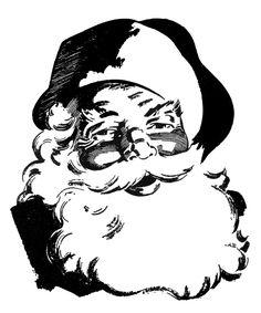 Retro Christmas Clip Art - Wonderful Santa - The Graphics Fairy