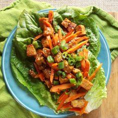 Ginger sesame tempeh lettuce wraps