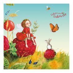 Kindertapeten - Vliestapeten - Erdbeerinchen Erdbeerfee - Zauberhaft…