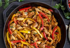 Recipes With Chicken And Peppers Skillet Chicken Fajitas Recipe Runner Black Pepper Fried Chicken Healthy Chicken Fajita Stuffed Peppers Recipe Food Network Sweet And Sour Chicken Din. Chicken Fajita Recipe, Chicken Fajitas, Chicken Recipes, Iron Skillet Recipes, Skillet Meals, Skillet Chicken, Skillet Fajitas, Easy Skillet Dinner, Cooking Recipes