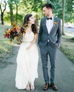 """See the """"The Couple"""" in our Marguerita and Aaron's Vintage-Inspired Wedding in Portland gallery"""