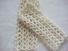 Ivory Fingerless GlovesMittens by karmasaccessories on Etsy, $18.00