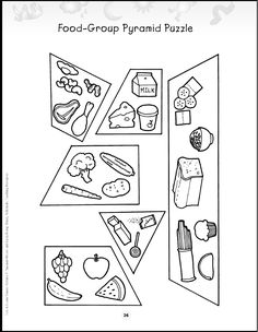 Printable Food Pyramid Activities | Food Pyramid Coloring Pages ...