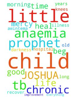 GOOD MORNING PROPHET TB JOSHUA! A PRAYER REQUEST FOR - GOOD MORNING PROPHET TB JOSHUA A PRAYER REQUEST FOR MY CHILD BY NAMETHELMA AWINTEMA AKAMALUG. 1.I beg you prophet TB JOSHUA,have Mercy on my little child who is about 1 12 years old and suffering from chronic ANAEMIA for long time and pray for this little child to recover from this chronic ANAEMIA in Jesus Name Amen 2.I am on my knees begging to pray for this little child to get heal by the POWER of the BLOOD of Jesus Christ. 3.I have…